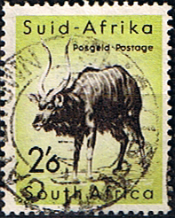 Stamps of South Africa 1954 Wild Animals SG 162 Nyala Fine Used Scott 211