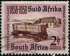 Postage Stamps South Africa 1958 German Settlers Fine Used SG 168