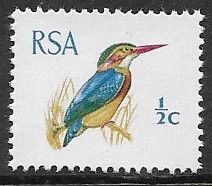 South Africa 1969 Natal Pygmy Kingfisher SG 276a Fine Mint