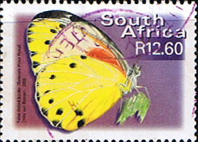 Stamp Stamps South Africa Butterflies SG 1230 False-dotted border Fine Used SG 1230 Scott 1198