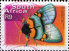 South Africa 2002 Butterflies SG 1392 False tiger moth Fine Used