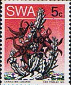 South West Africa 1973 Succulents Coil Stamps SG 259a Fine Mint