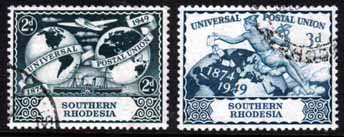 Southern Rhodesia 1949 Universal Postal Union Set Fine Used