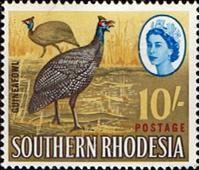 Stamp Stamps Southern Rhodesia 1964 QE II SG 104 Guineafowl Fine Mint Scott 107