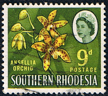 Southern Rhodesia 1964 SG 98 Orchid Plant Fine Used