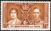 St Christopher and Nevis 1937 King George VI Coronation SG 66 Fine Mint