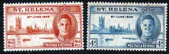 Stamps St Helena 1946 King George VI Victory Set Fine Mint