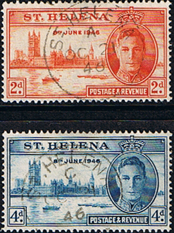 St Helena 1946 King George VI Victory Set Fine Used