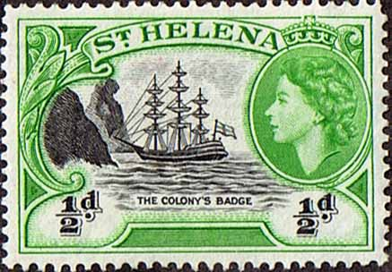 St Helena 1953 Badge of Colony Ship SG 153 Fine Mint