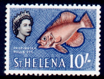 Stamps St Helena 1961 Fish Deep-water bullseye Fine Mint