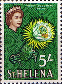 Stamps St Helena 1961 Plant Night-blooming Cereus SG 187 Fine Mint Scott 171