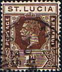 St Lucia 1921 King George V  SG 93 Fine Used