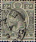 St Lucia 1921 King George V  SG 95 Fine Used