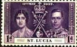 St Lucia 1937 King George VI Coronation SG 125Fine Mint