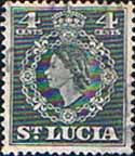 Stamps St Lucia 1953 Queen Elizabeth II SG 175 Fine Used SG 175 Scott 160