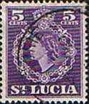 St Lucia 1953 Queen Elizabeth II SG 176 Fine Used