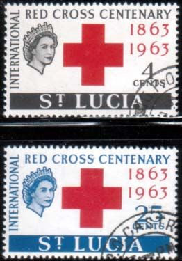 Stamps of St Lucia 1963 Red Cross Centenary Fine Mint