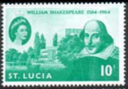 St Lucia 1964 William Shakespeare Stamps