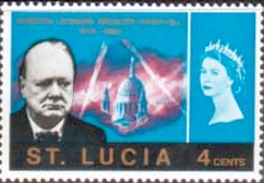 Stamps of St Lucia 1966 Churchill Set Fine Mint