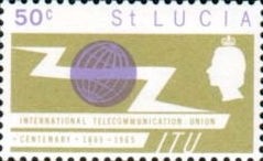 St Lucia Stamps International Telecomunication Union