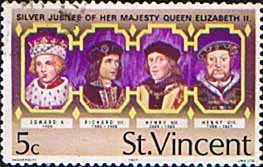 St Vincent 1977 Silver Jubilee SG 506 Kings Fine Used
