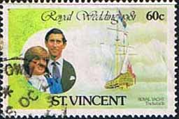 St Vincent 1981 Royal Wedding SG 668 Isabella Fine Used