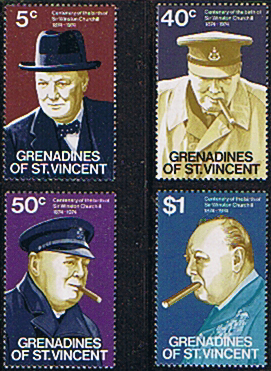 St Vincent Grenadines 1974 Churchill Centenary Stamps
