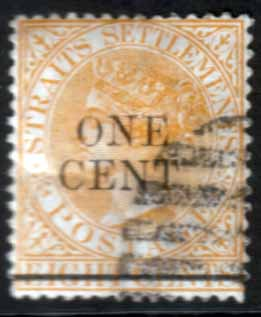 Straits Settlements 1892 Queen Victoria Surcharged SG 91 Fine Used