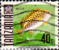 Stamps Tanzania 1967 Fish Fine Used SG 147 Scott 24