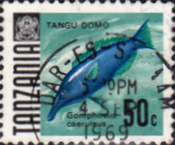 Postage Stamps Tanzania 1967 Fish Fine Used SG 148 Scott 25