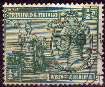 Stamps Stamp Trinidad and Tobago 1922 King George V Britania SG 218 Fine Used Scott 21