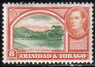 Stamp Stamps Trinidad and Tobago 1938 SG 251 Queens ParkFine Mint Scott 56