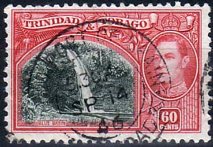 Stamps Trinidad and Tobago 1938 SG 254 Blue Basin Falls Fine Used