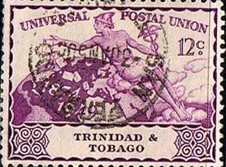 Trinidad and Tobago Stamps 1949 Universal Postal Union Set Fine Used