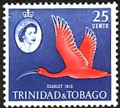 Trinidad and Tobago 1960 SG 292 Bird Scarlet Ibis Fine Mint