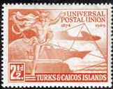 Turks and Caicos 1949 Universal Postal Union SG 217 Fine Mint