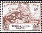 Turks and Caicos 1949 Universal Postal Union SG 219 Fine Mint