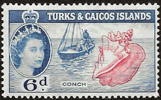 West Indies Stamps Turks and Caicos Island 1957 Queen Elizabeth II and Salt Cay Fine Used SG 247 Scott 131