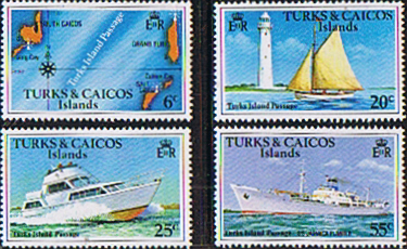 British West Indies Stamps Turks and Caicos Island 1978 Boats and Passages Set Fine Mint