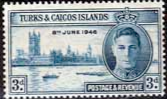Turks and Caicos Islands 1946 King George VI Victory SG 207 Fine Mint