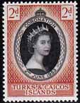 Stamps of Turks and Caicos Elizabeth II 1953 Coronation Fine Mint SG 234 Scott 118