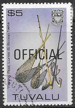 Tuvalu 1983 Handicrafts OFFICIAL SG O34 Fine Used