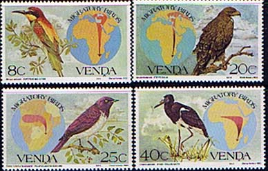 Stamps Stamp Venda 1983 Migratory Birds Set Fine Mint