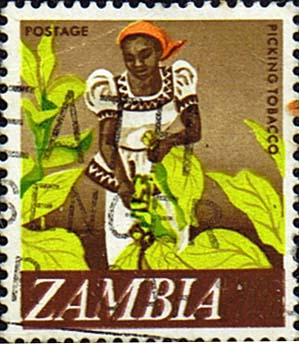 Postage stamps of Zambia 1968 Decimal currency SG 134 Fine Used Scott 44