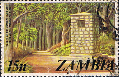 Postage stamps of Zambia 1975 SG 234 Independence Monument Fine Used Scott 143