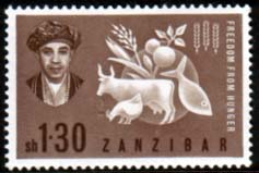 Stamps Zanzibar 1963 Freedom From Hunger Fine Mint