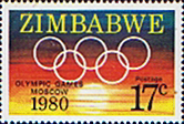 Stamps of Zimbabwe 1980 Olympic Games Fine Mint