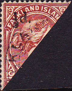 Bisected Stamp